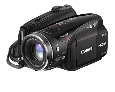 Canon HV30 camera is great for tight fitting spots, excellent optical image stabalizer