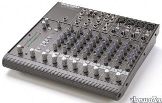 Mackie 12 Channel XLR or Line Audio Mixer. Not shown is a Yamaha 16 channel.