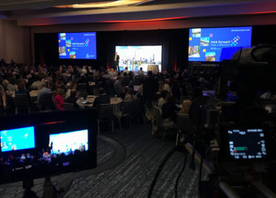 We provide video recording services for conferences