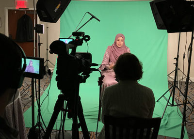 Portable green screen video production services
